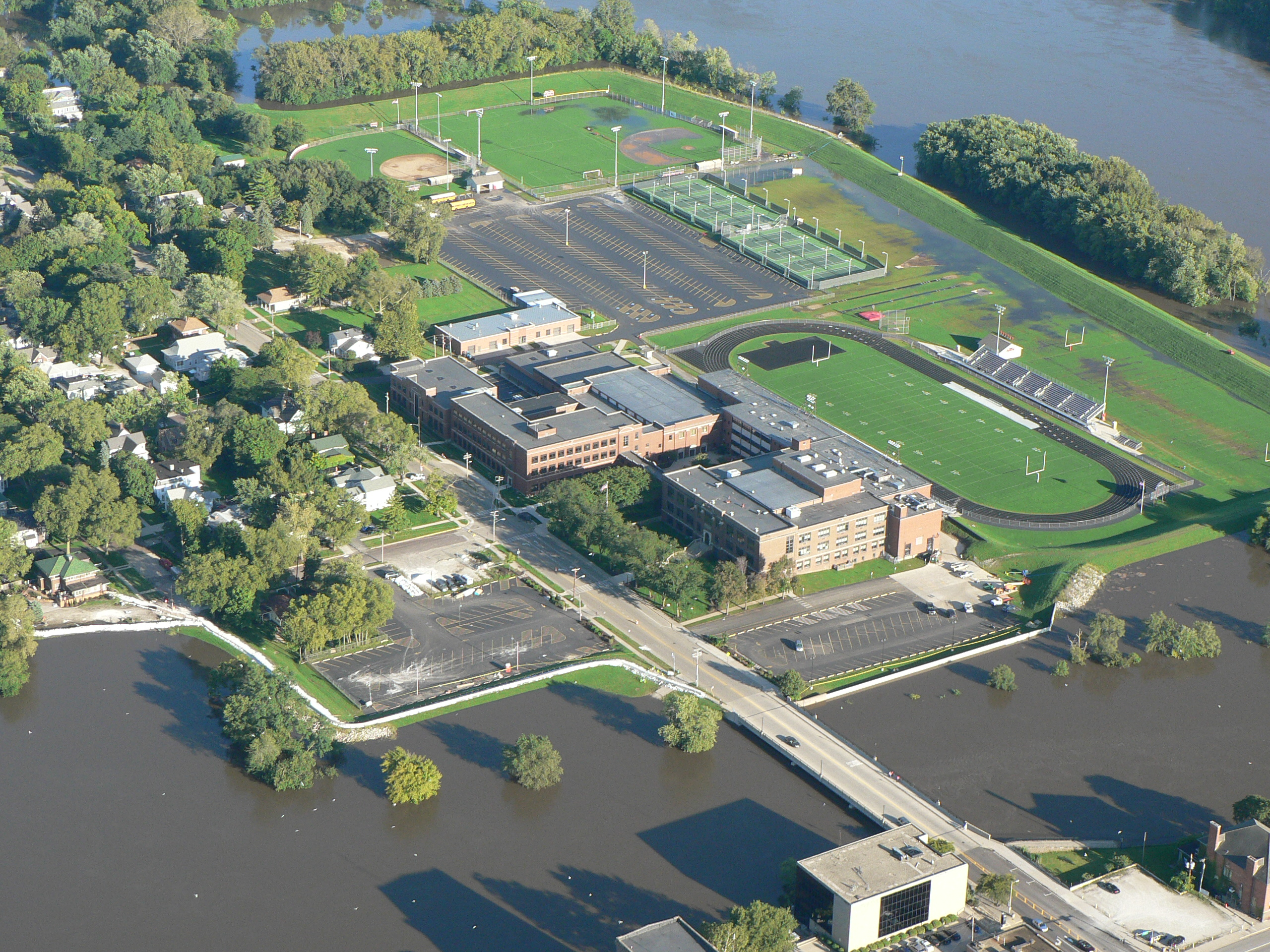 Aerial View of Ottawa High School